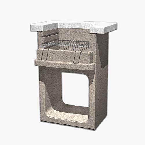 Xodo Store SAROM Grill AJACCIO Modell in Mauerwerk, arbeitet mit Holzkohle