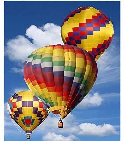 Legpuzzels, van 1000 stukken for volwassenen, gekleurde Hot Air Balloon, Brain Challenge puzzel for kinderen