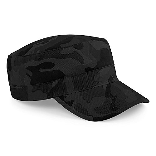 Beechfield Unisex Kappe mit Tarnmuster (Einheitsgröße) (Dunkles Tarnmuster)