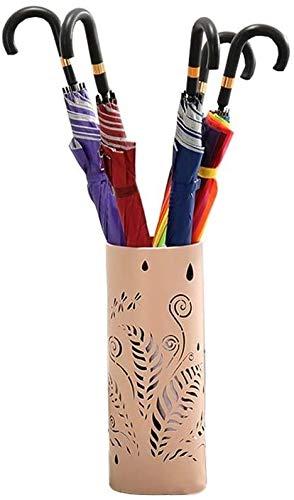 HEWEI Paraplu stand frame ronde metalen paraplu houder met aparte wastafel en 3 haken voor ingang Ministerie van Binnenlandse Zaken (kleur: wit)