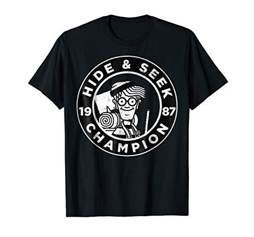 Where's Waldo Hide & Seek Champ Circle Logo Graphic T-Shirt