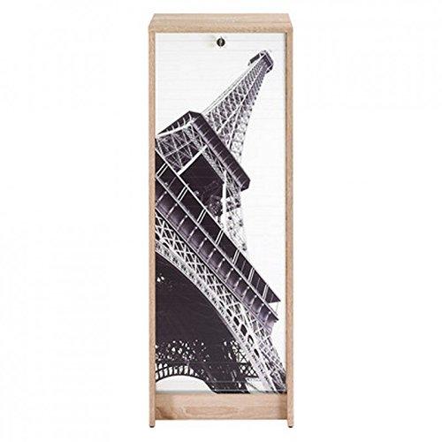 ACTUAL DIFFUSION Boost Classeur à Rideau Chêne Naturel Hauteur 104 cm-Coloris-Tour Eiffel 750 751, 38,5x38x103,8 cm