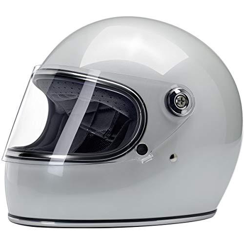 Integralhelm Biltwell Gringo S weiß Perla Metallic Pearl White Doppelt zugelassen ECE & DOT (Europa) Helm Biker Custom Vintage Retro Jahr 70 Größe M