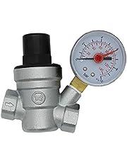 Messing water drukverminderaar met manometer waterdrukregelaar reduceerventiel drukregelaar drukregelventiel aansluiting 1/2 3/4 chroom