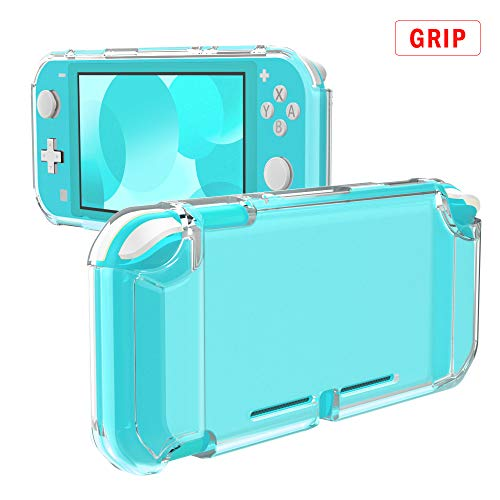 MoKo Cover for Nintendo Switch Lite, Protective Clear Grip Case TPU Shockproof Durable Frosted Shell for Nintendo Switch Lite Console - Clear