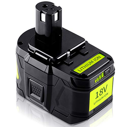 【Upgrade】 TenHutt 18V 9.0Ah Replacement Battery for Ryobi 18V Battery ONE+ Plus High Capacity 18V Lithium-Ion Battery P102 P103 P104 P105 P106 P108 P107 P109 for Cordless Power Tools