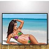 Strand sexy Adriana Lima Bilder Poster Wandkunst
