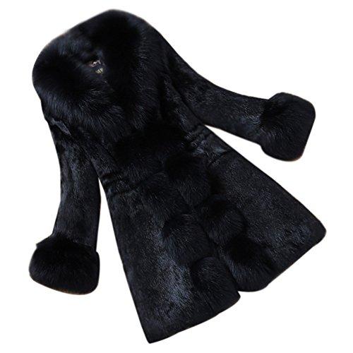 Abrigo largo de pelo sintético en varios colores