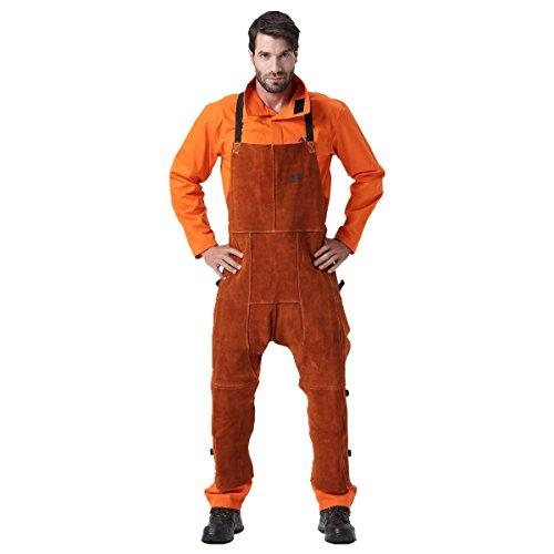 Desconocido Pantalones de soldar, Chaps de Soldadura de Cuero, Pantalones de Trabajo...