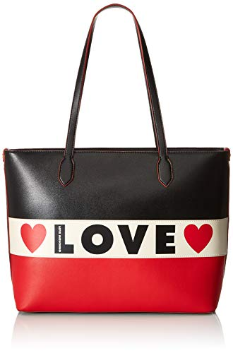 Love Moschino Borsa Small Grain Pu, Tote Donna, Nero...