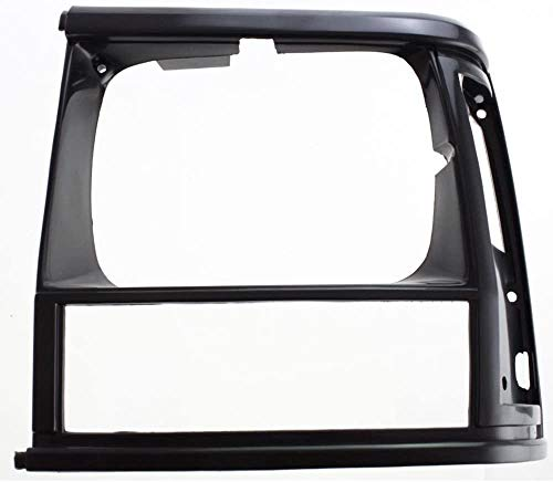 I-Match Auto Parts Left Driver Side Headlight Door Bezel Headlamp Cover Assembly Replacement for 1991-1996 Jeep Cherokee 5BL63KW7 CH2512124