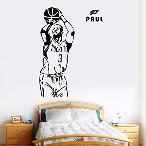 Pegatinas de pared para sala de estar Flores, bricolaje pared deportes baloncesto póster cumpleaños baños arte cocina decoración refrigerador vinilo niños acrílico calcomanías románticas niños 80x31cm