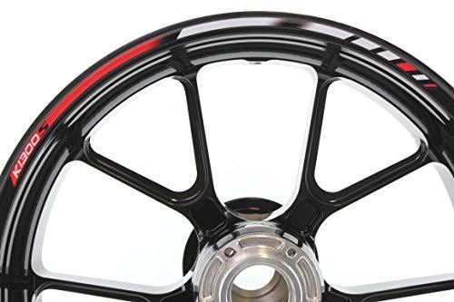 IMPRESSIATA Pegatinas y calcomanías del Kit Completo Rojo Especial de rimstriping para Llantas de 17 Pulgadas compatibles con BMW K1300S