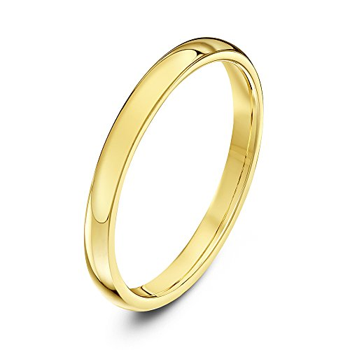 Theia Unisex Super Heavy Court Shape Polished 9 ct Yellow Gold 2 mm Wedding Ring - Size N