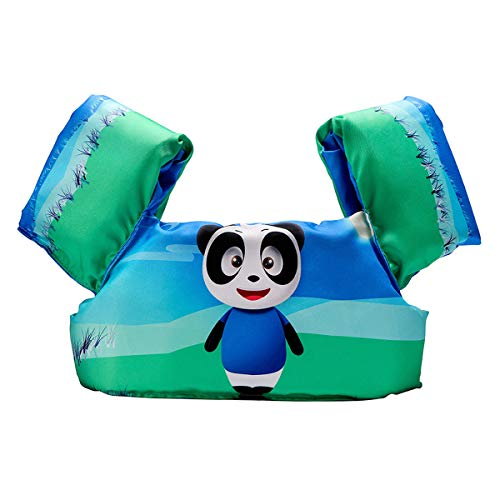 Elejolie Swim Aids for Toddlers,Kids Learn to Swim Life Jacket for Toddlers,Swim Aid Floater Life Vest (Panda)