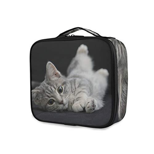 Outils de beauté de voyage Cosmétique Train Case Ludique Animal Beau Chat Maquillage Sac De Rangement Portable Trousse De Toilette
