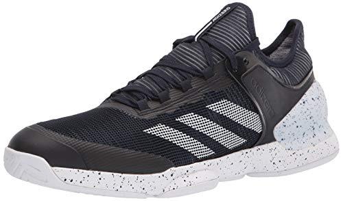 adidas Men's Adizero Ubersonic 2 Tennis Shoe, Ink/White/Ink, 6.5