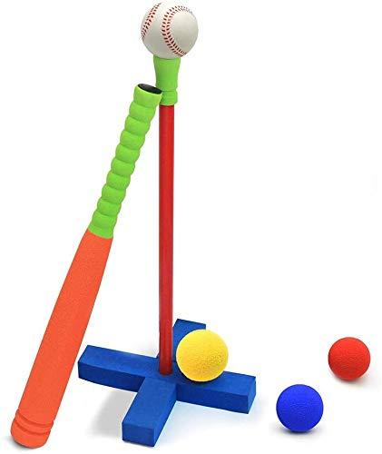 Juego de bate de béisbol para niños, juguete de béisbol con juego de pelota de béisbol, regalo de cumpleaños y juguete y regalo de fiesta, juguete deportivo al aire libre- Orange