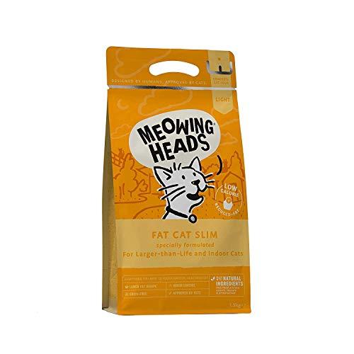 Meowing Heads Katzenfutter Trocken - Katzenfutter für übergewichtige Katzen, Fettreduziert - 100% Natürlicher Lachs mit Huhn, keine künstlichen Geschmacksverstärker, Getreidefrei, 1,5kg