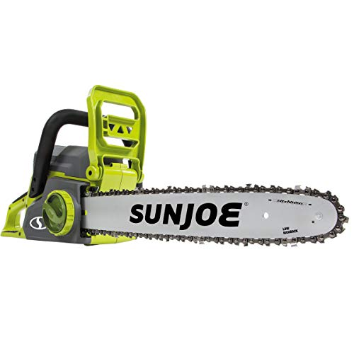 Sun Joe ION16CS 16-Inch 4-Amp 40-Volt Cordless Chain Saw, Kit (w/ 4.0-Ah Battery + Quick Charger)