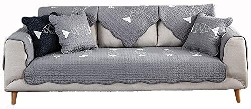 lixiaoyuttyy Funda Chaise Longue/Sofa Protector De Sofá/Asiento De Sofá Duradera Protector [Vendido por Pieza/No Es Un Juego Completo] Grey 110×210cm(43.31×82.68in)