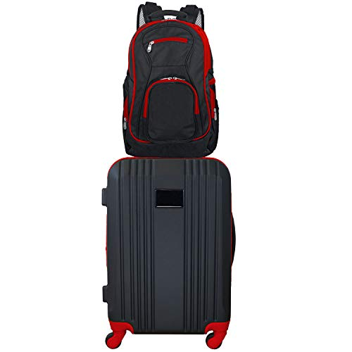 Denco 2-Piece Luggage Set, Red, 24