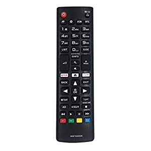 MYHGRC AKB75095308 Reemplazo Mando a Distancia para LG LCD LED Smart TV Ajuste para LG TV Mando a Distancia con Netflix Amazon Botones