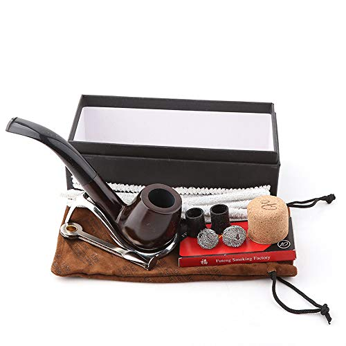 GOLOFEA Toner-Patrone, Ebenholz-Paket, abnehmbarer Tabakfilter-Zigarettenhalter, mit Aluminiumbox, Goldhalterung, Wurzelkanalreiniger, Geschenk-Box, umweltfreundliche Laserdrucker-Patrone.
