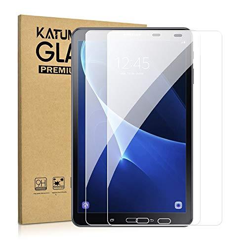 DETUOSI 2 Stück Panzerglas Schutzfolie für Samsung Galaxy Tab A 10.1 2016, Displayfolie mit SM-T580/T580N/T585N, 9H Hartglas HD Kristallklar Blasenfrei Kratzfest