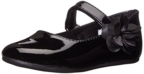 Baby Deer Girls Mary Jane Skimmer First Walker Shoe, Black, 8 Toddler