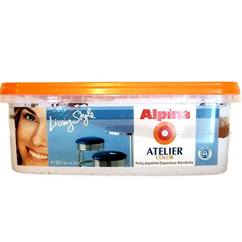 ALPINA Wandfarbe Atelier, 2,5 L. Blue Moon, Azurblau, Hellblau 3,196 Euro/Liter