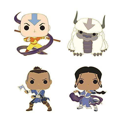 Funko Pop! Pins Set of 4: Avatar - Aang, Appa, Sokka and Katara