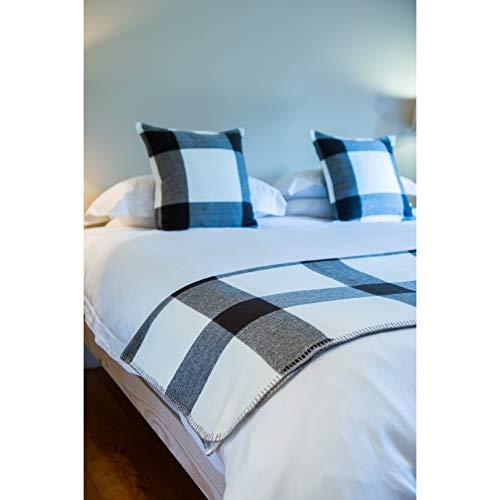 LILENO HOME - Manta para sofá, Lusso Manhattan - Reloj de pulsera (acero), color gris, 200x230 cm - mit Kettelrand / 380 g/m²