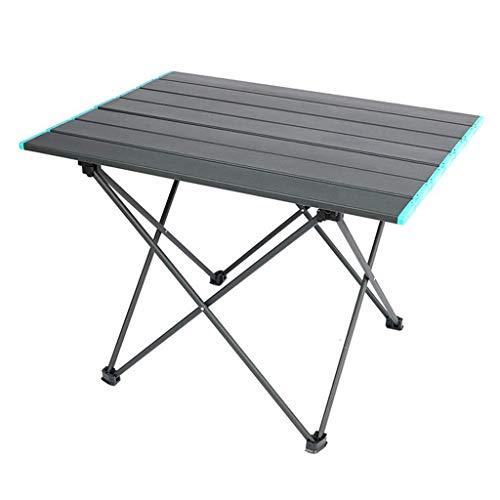 DX picknickbord, lätt utomhus camping bord bärbar picknickbord, aluminium hopfällbart vandringsbord med förvaringsväska, trädgård BBQ matbord för 2-4 personer