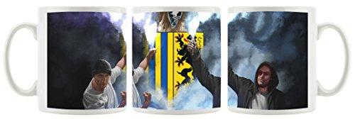 Ultras-Art Chemnitz Bengalo Kunst als Bedruckte Kaffeetasse/Teetasse aus Keramik, 300ml, weiß