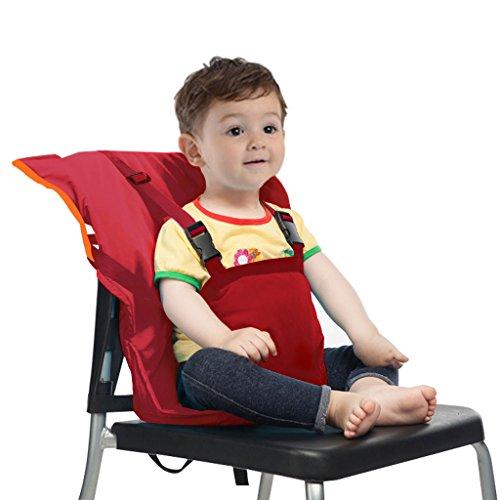 Baby Sitzbezug Reise Kleinkind Hochstuhl Sicherheits Gurt Tragbar Säugling Sack Gürtel,Rot