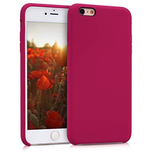 kwmobile Cover per Apple iPhone 6 Plus / 6S Plus - Custodia in Silicone TPU - Back Case Protezione Cellulare Fucsia Ciliegia/Rosso