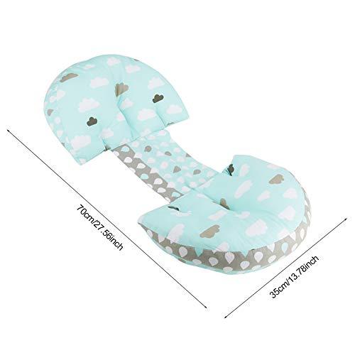 Almohada de apoyo para el vientre, almohada para el embarazo en la cintura, espalda, apoyo para el vientre para mujeres embarazadas para cojín para la espalda(Clouds and raindrops)