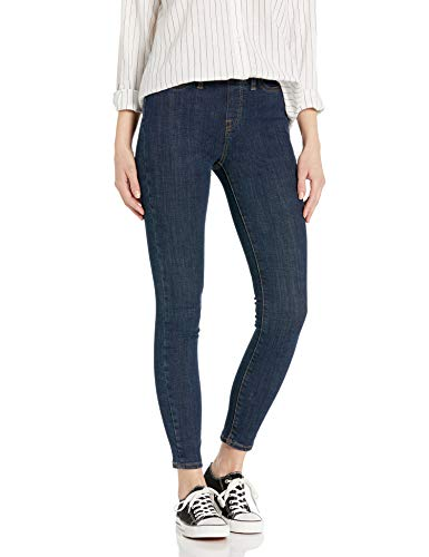Amazon Brand - Goodthreads Women's Pull-On Skinny Jean, Abraided Rinse 10 Regular