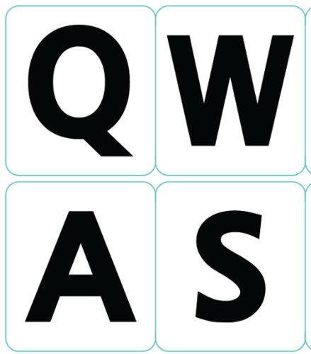 English US Large Letters Keyboard Stickers Non Transparent White Background (Upper Case)