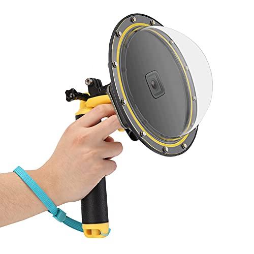 JYPS Puerto Domo para GoPro Hero 8 Black, Dome Port con Carcasa Impermeable + Mango de Bobber Flotante + Gatillo + Inserto antivaho para GoPro Hero 8 Black