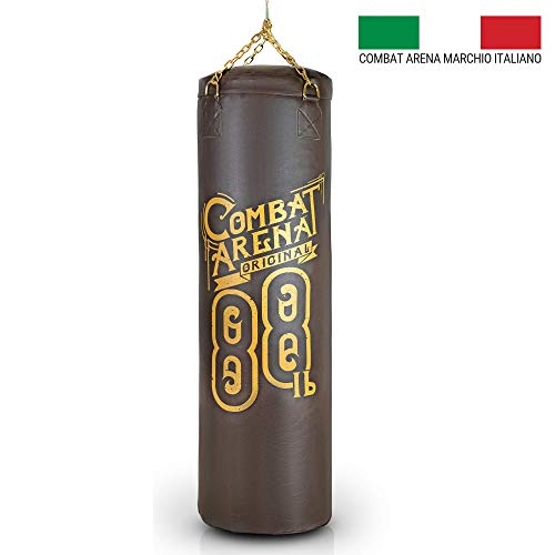 Combat Arena Sacco da Boxe Training PRO Made in Italy (40 kg, Marrone Vintage)