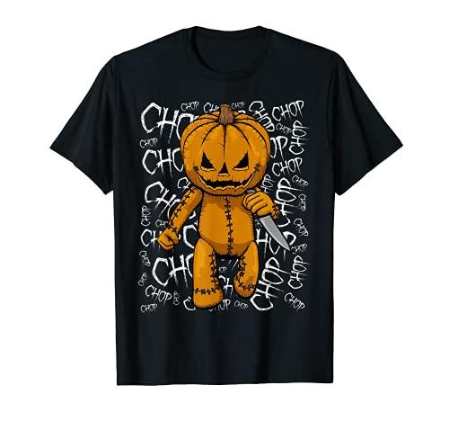 Calabaza asesino serie cuchillo chop Halloween Camiseta