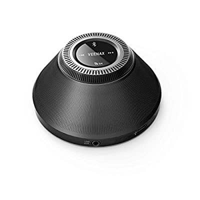 VEENAX PS10 Bluetooth Mini Speakers, Portable Speaker with Touch Screen, Wireless Speaker with Bulit in Mic and Deep Bass, Outdoor Stereo Speakers for iOS Android Phone Computer PC Tablet MP3, Black