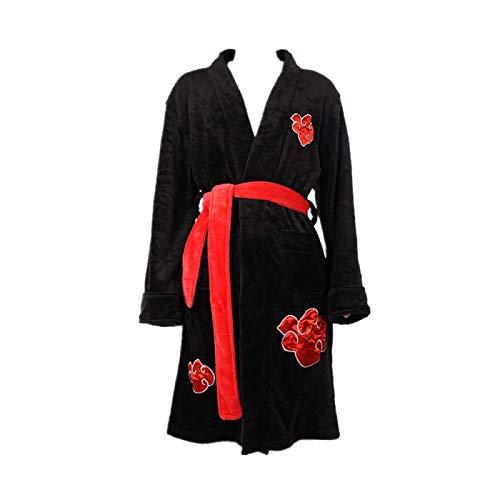 Anime Naruto Uchiha Itachi Akatsuki Cosplay Kostüm Pyjama Nachtwäsche Bademantel Nachthemd Flanell Hohe Qualität