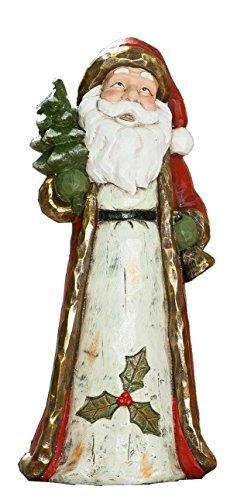dekojohnson GILDE Père Noël avec Sapin et Cloche 19 x 22 x 50 cm