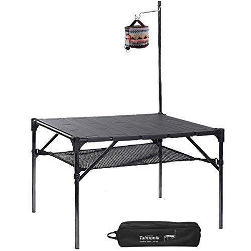 Taimonik テーブル 折り畳み式テーブル アルミ製 アウトドア用 キャンプ用 超軽量材質 エクササイズ 収納ケース付き 無限拡大可能 (テーブル本体-S05)