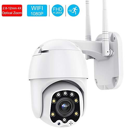 Cámara de CCTV 5X Zoom Mini cámara WiFi al Aire Libre Interior Ptz Icsee Aplicación Cámara inalámbrica Vigilancia H.265x Cámara de Doble luz 1080P 64GB 2A Potencia