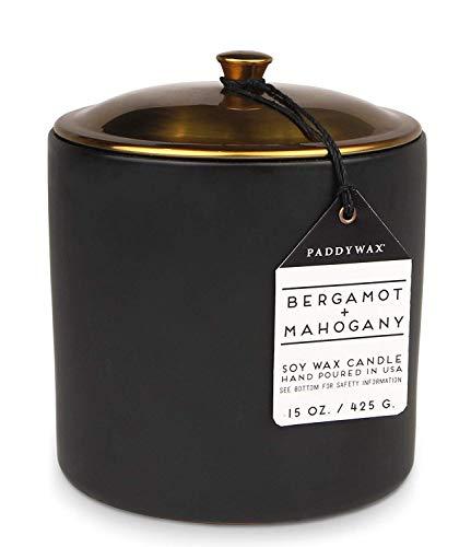 Paddywax Alpine Collection - Vela perfumada de Cera de SOYA, Bergamot + Mahogany, 443,6ml, 1, 1