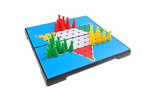 Quantum Abacus Gioco da Tavolo Magnetico (Versione da Viaggio): Dama Cinese - Pezzi magnetici, tavoliere Pieghevole, 20cm x 20cm x 2cm, MOD. SC2436 (DE)